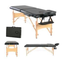 2-Fold Massage Table Adjustable Facial SPA Salon Bed Tattoo
