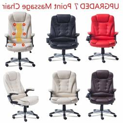 360° Swivel Office Massage Game Chair Computer Heating Ergo
