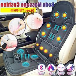 8 Mode Massage Seat Cushion Heated Back Neck Massager Body C