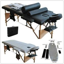 "84""L Massage Table Salon Facial SPA W/sheet+cradle cover 2Pi"