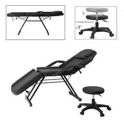 Adjustable Salon SPA Black Massage Bed Facial Beauty Barber