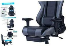 Back Massage Gaming Chair with Footrest,PC Computer Video Ga