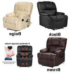 big massage recliner chair pu leather ergonomic