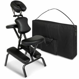Black Portable Folding Massage Chair Carrying Case Tattoo Re