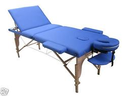Blue New 2014 Portable Massage Table w/Free Carry Case T1 Ch