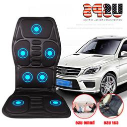 Car Chair Body Massage Heated Seat Cushion Back Neck Pain Ma