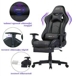 Office Chair Computer Gaming Chair with Footrest Lumbar Mass