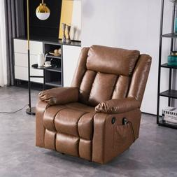 electric massage chair recliner sofa leather vibrating
