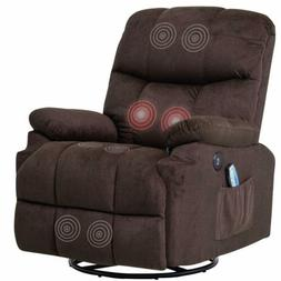 Electric Massage Chair Swivel Recliner Sofa Vibrating Heated