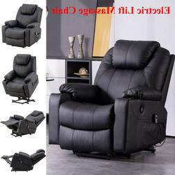 Electric Power Lift Massage Chair Recliner Elderly Armchair