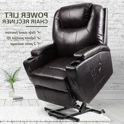 Electric Power Lift Recliner Chair Elderly Armchair w/Massag