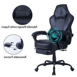 Healgen Gaming Chair Computer Desk Chair with Footrest Lumba