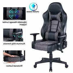 Blue Whale Gaming Chair with Massage Lumbar Pillow, PC Compu