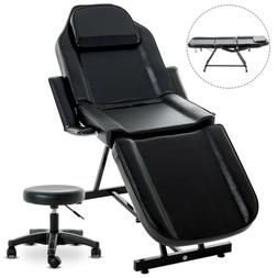 Massage Table Facial Bed Chair with Adjustable Portable Stoo