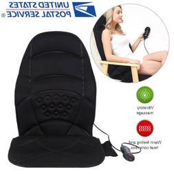 Heated Back Massage Cushion Seat Chair Massager Shiatsu Neck
