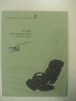 Human Touch HT-270 Massage Chair Recliner Instruction Manual