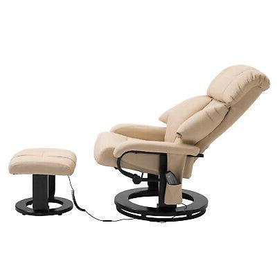 360-Degree Body Electric Massage Chair Cream