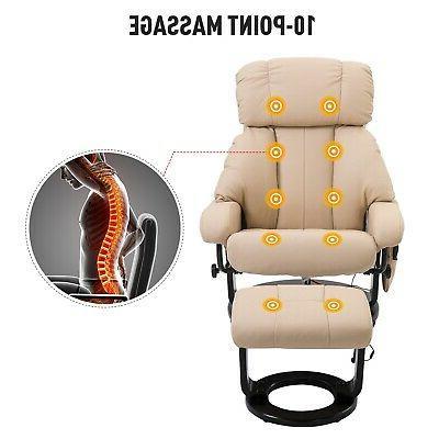 360-Degree Full Electric Massage Cream White