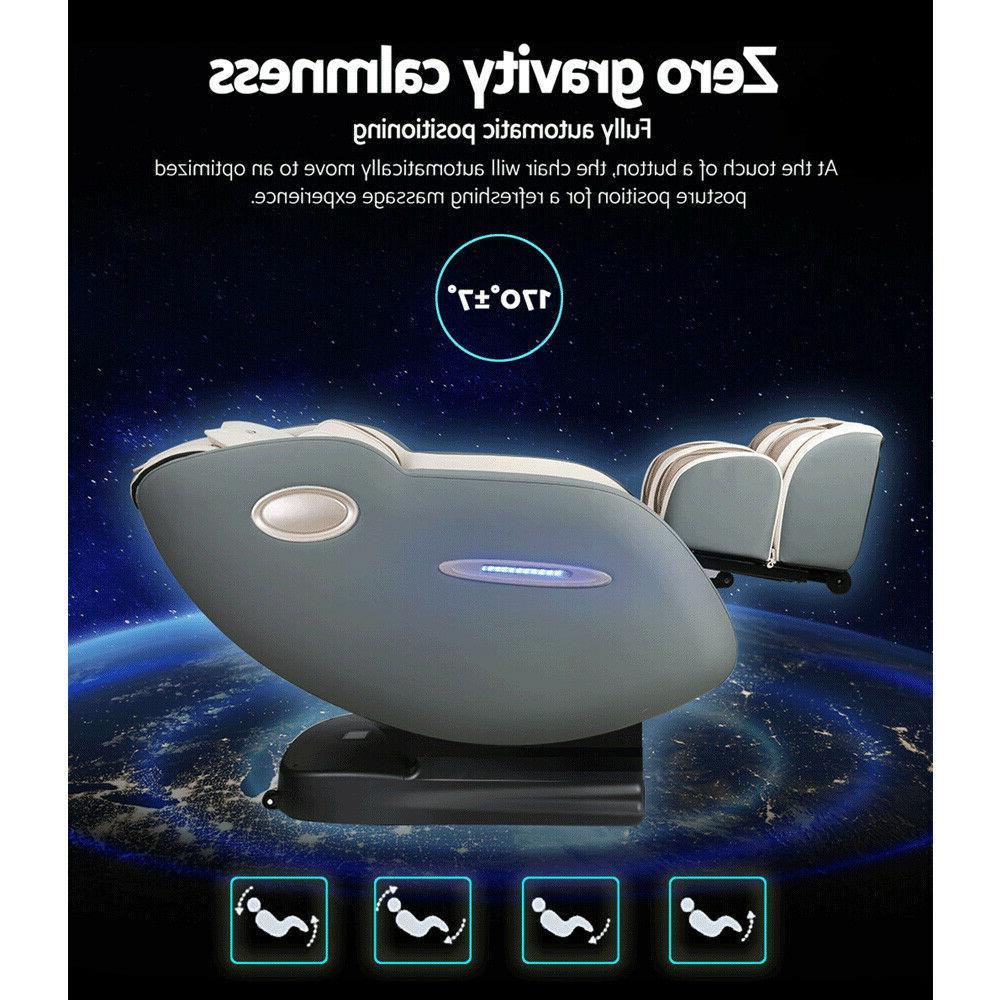 3D Electric Massage Chair SL Track Body Zero Shiatsu Cream