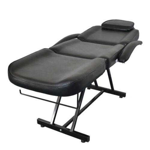 Black Bed Salon Barber Chair Sheet Spa w/Tattoo &