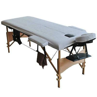 """84""""L Table Salon Facial SPA W/sheet+cradle cover 2Pillows+hanger"""