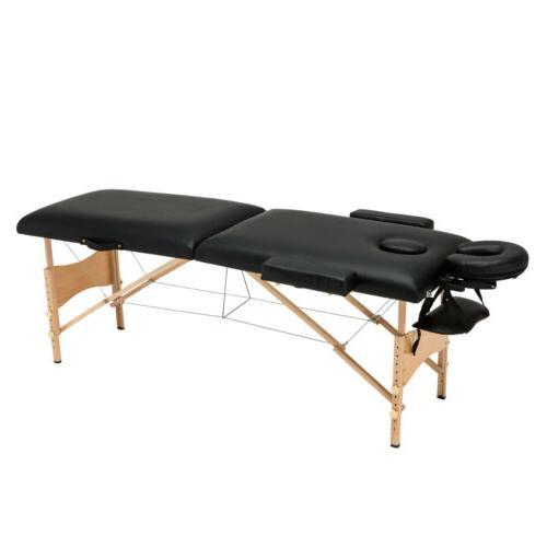 "84""L Portable Massage Table SPA W/Stool Swivel Chair"