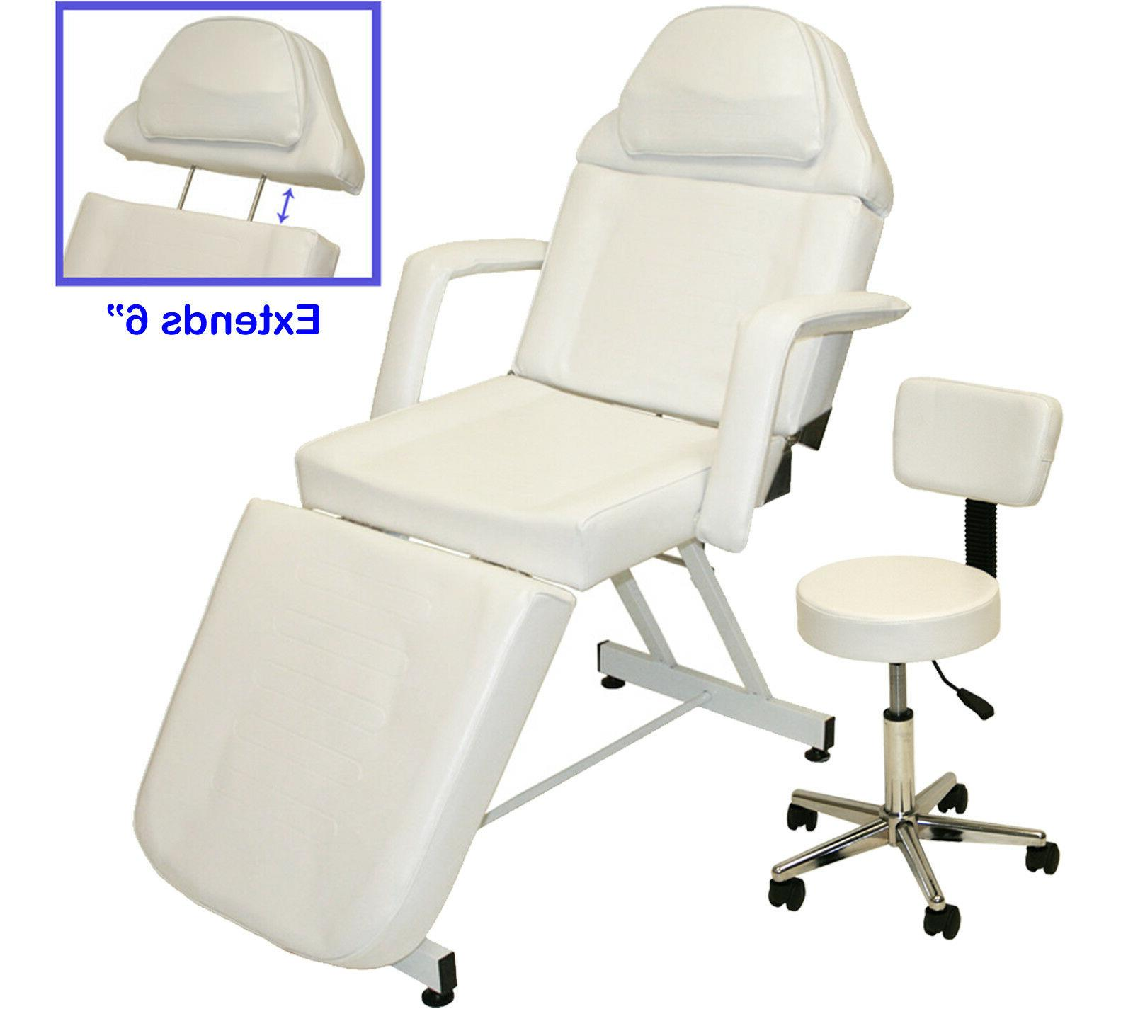 Professional Stationary Facial Massage Table Bed Chair Beaut
