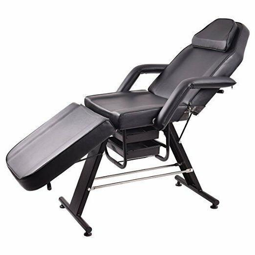 adjustable salon spa black massage bed barber