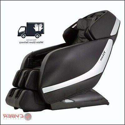Black Titan Pro Jupiter XL Extra Large Massage Chair Heat 3D