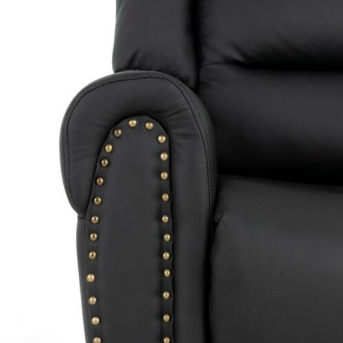 Black Power Reclining Chair Vibrating Heated Ergonomic Sofa w/