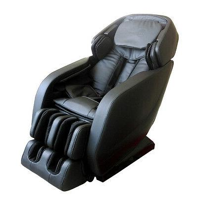 New Black Full Body Zero-Gravity L-track Massage Chair 3D ba
