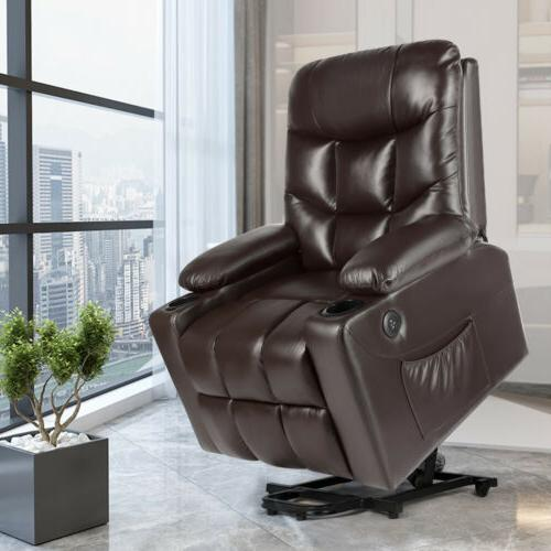 Brown Electric Power Lift Recliner