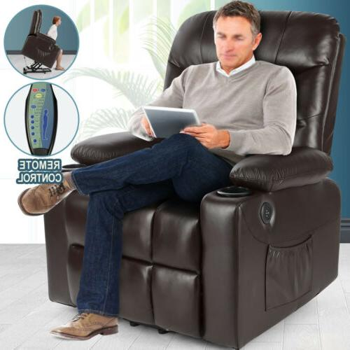 Brown Electric Power Lift Chair