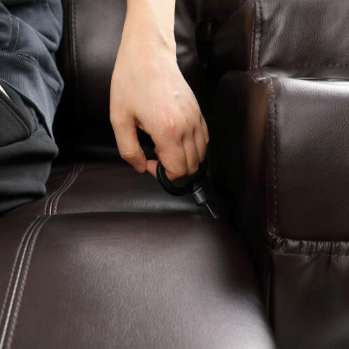 Brown Recliner Lounge Vibrate Heat Control