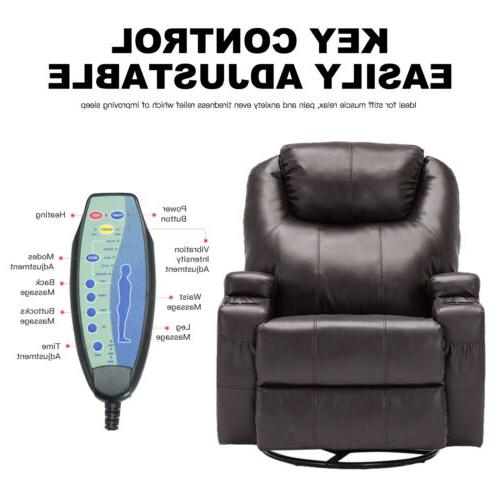Electric Recliner Massage Chair Heated with RC