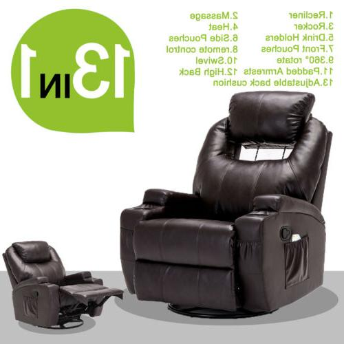 Electric Recliner Sofa Chair Heated with