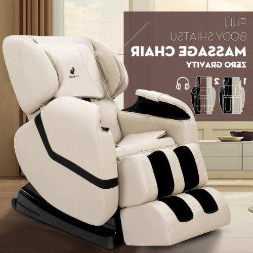 deluxe recliner full body shiatsu massage chair