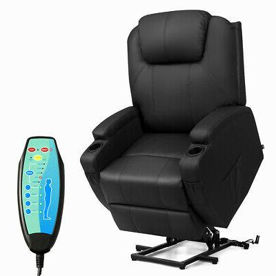 Electric Lift Power Chair Recliner Heated Vibration Massage