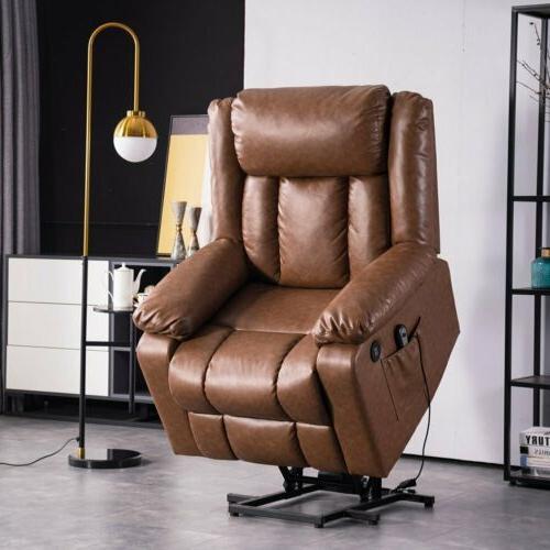 Electric Massage Chair Sofa Vibrating Ergonomic w/Remote