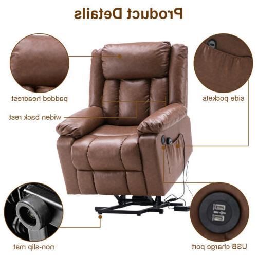 Electric Massage Chair Sofa Leather Ergonomic