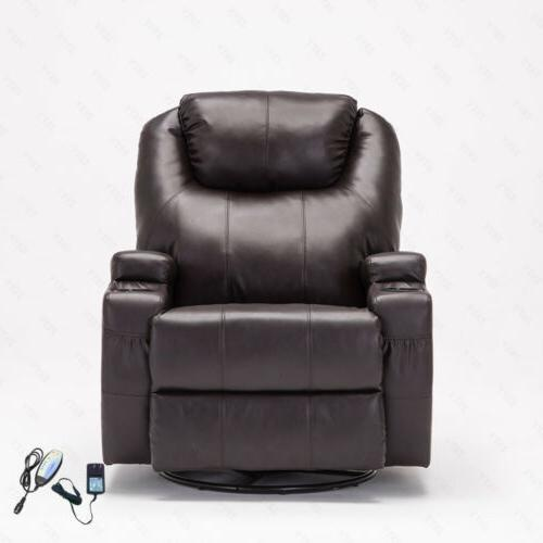 Electric Massage Chair Recliner Sofa Leather Ergonomic w/Remote