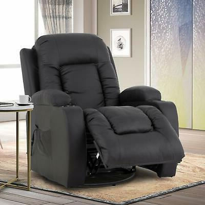 Electric Chair Recliner w/ & Side Leather Brown