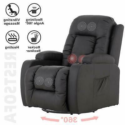 electric massage chair recliner w cup holders
