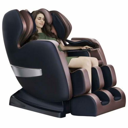 Massage Chair Deluxe S-Track Recliner with 3D Robot Hand Zer