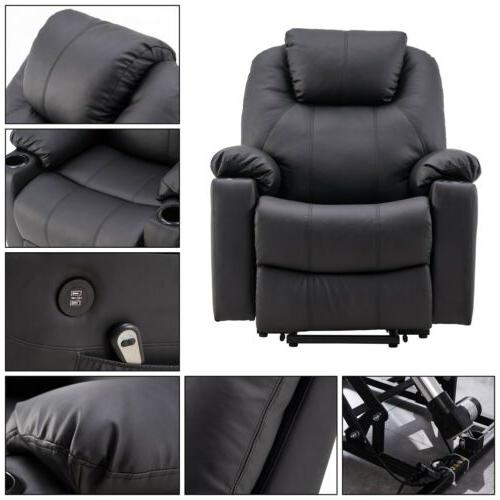 Electric Power Chair Recliner Armchair PU Leather