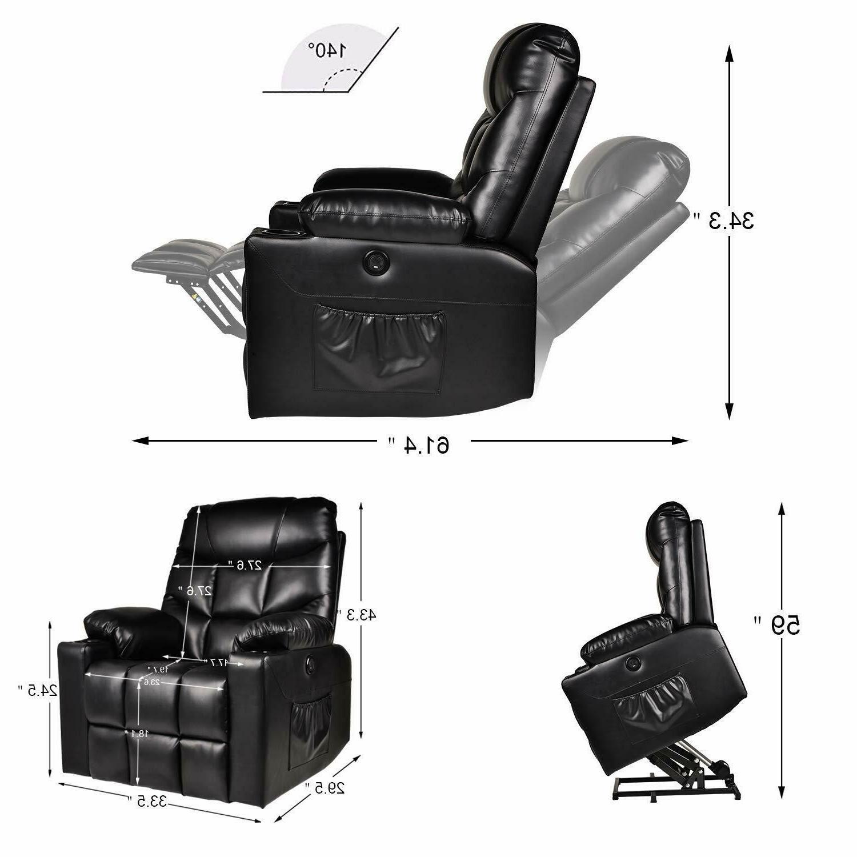 Electric Power Chair Heated Massage Sofa