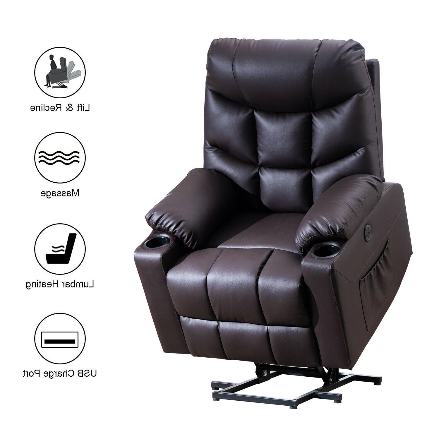electric power lift recliner chair heated 8