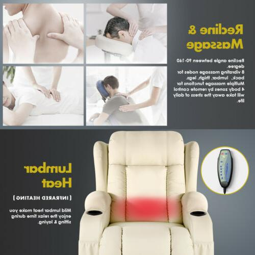 Extra Back Massage Recliner Vibrate 360° Swivel