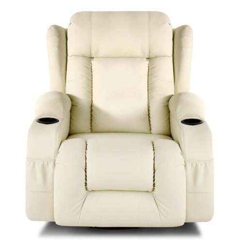 Extra Leather Massage Chair Heated Vibrate 360°