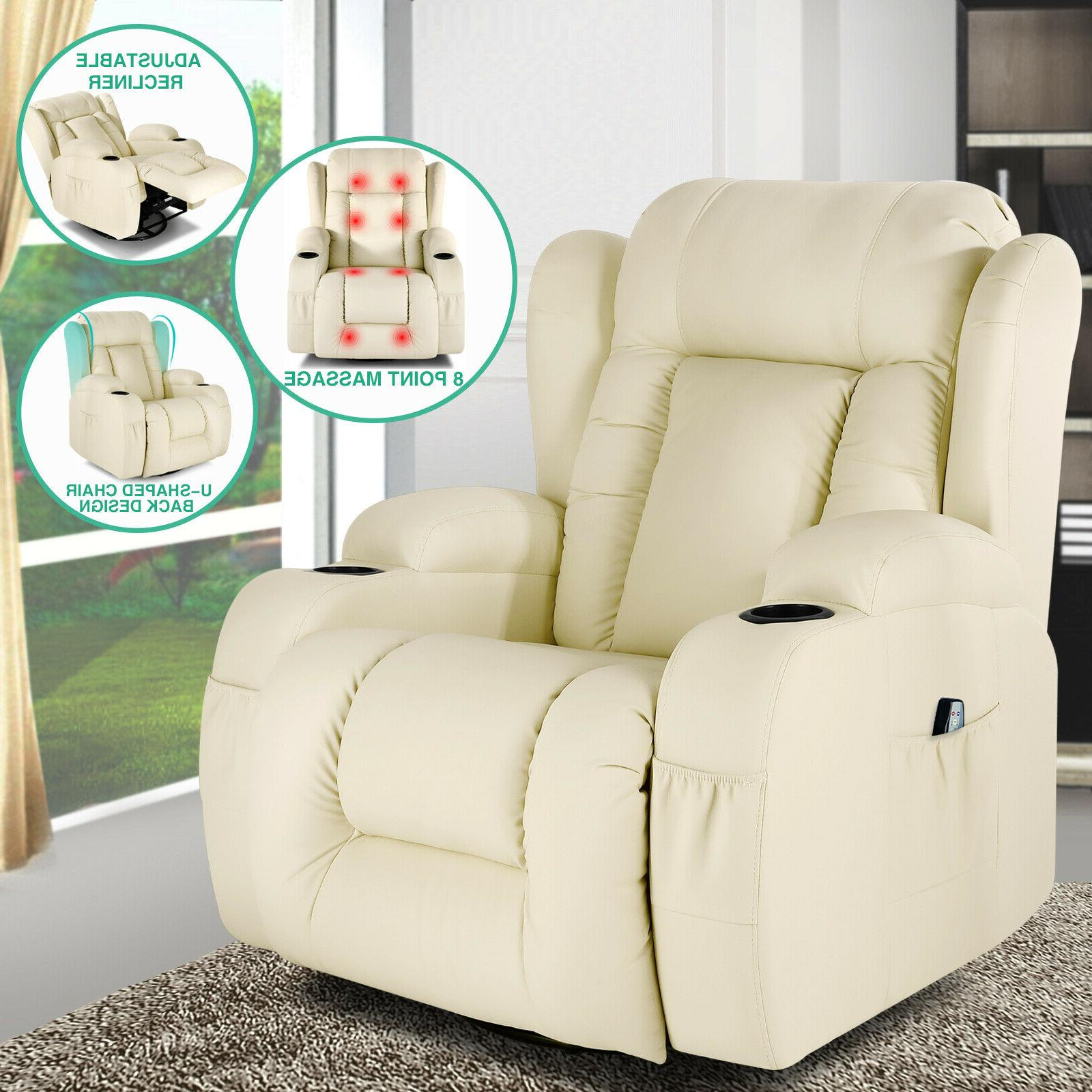 extra wide back leather massage recliner chair